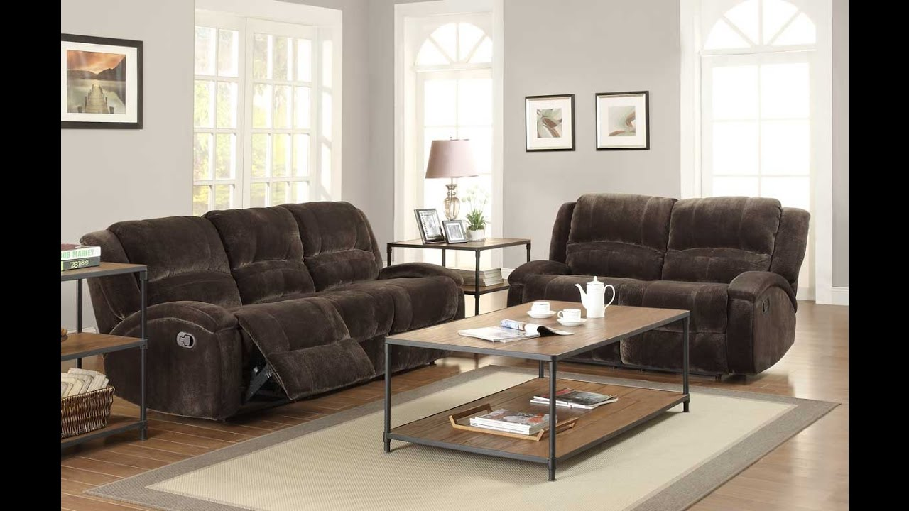 Elegant comfortable recliner sofa sets for luxurious living room
