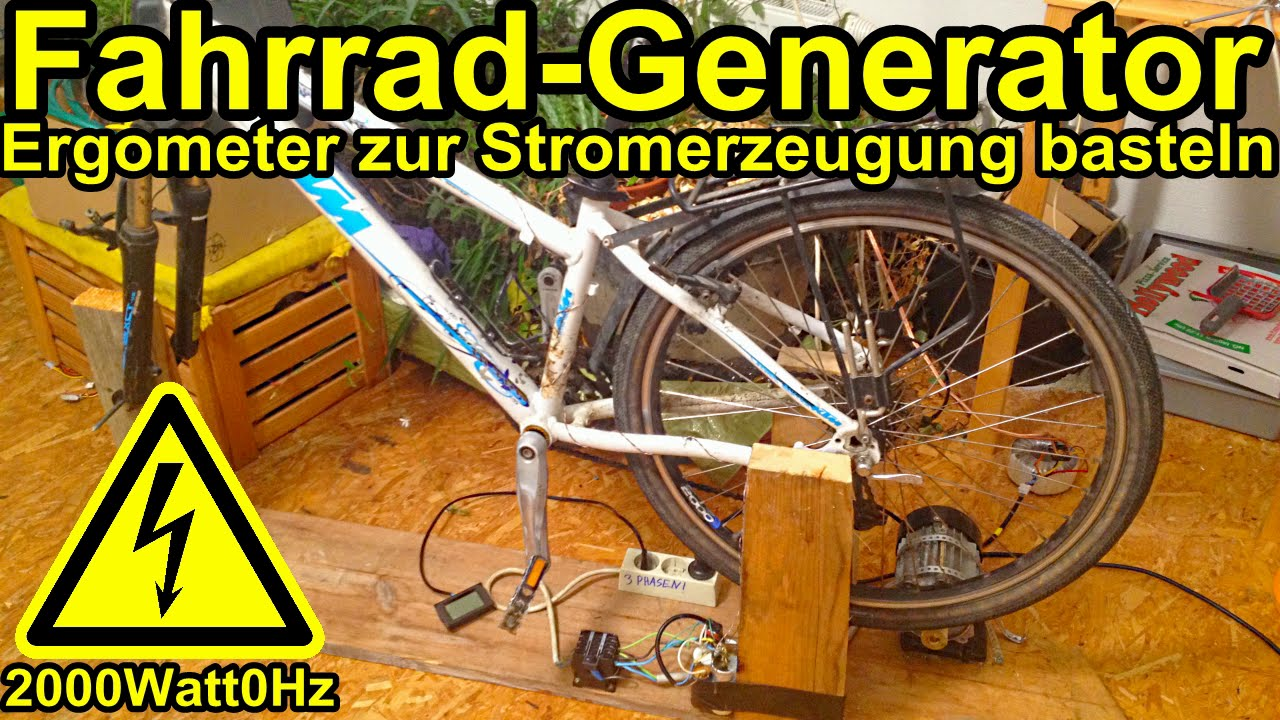 selbst gebauter fahrrad generator youtube. Black Bedroom Furniture Sets. Home Design Ideas