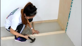 Building a Wall Mounted Wardrobe Dressing Cabinet