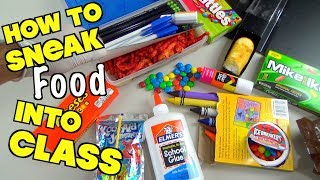 Repeat youtube video 5 Clever Ways To Sneak Candy And Snacks Into Class When You're Hungry -Back To School Hacks For Kids