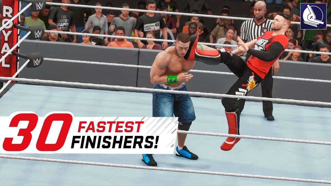 WWE 2K18 Top 30 Fastest Finishers (Reversals!)