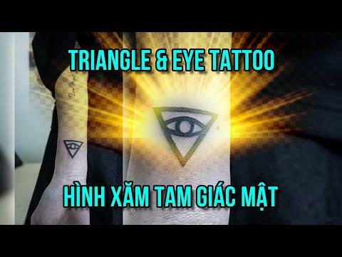 Triangle All Seeing Eye Tattoo - Hình Xăm Mắt Và Tam Giác Đẹp - Ngoc Thong Tattoo