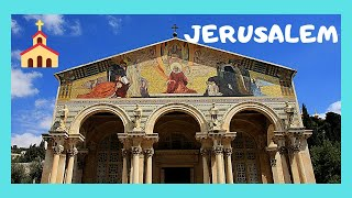 JERUSALEM, EXPLORING the magnificent CHURCH OF ALL NATIONS on the MOUNT OF OLIVES