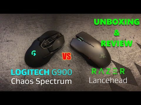 Razer Lancehead Wireless Unbox, Review and vs Logitech G900