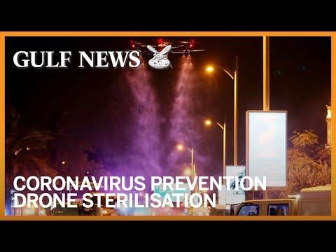 Coronavirus prevention: Dubai uses drones to sterilise streets