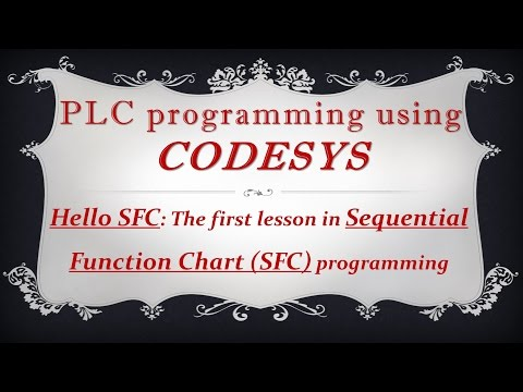 CODESYS: Sequential Function Chart (SFC) programming - First lesson - Background music removed