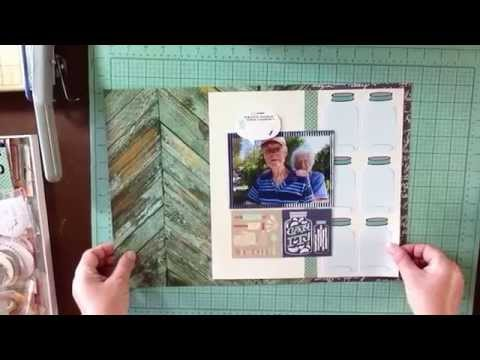 What's Cooking / JBS Mercantile October Kit / Scrapbook Process Video