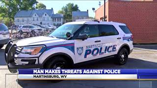 Martinsburg man charged with making threats against Martinsburg City Police