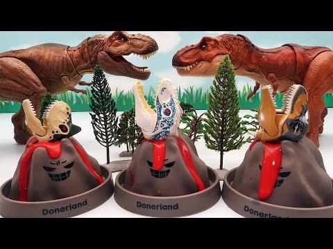Dinosaurs Eat Pteranodon Egg! Volcano Lava, Dinosaur Lego, Jurassic World Dinos |