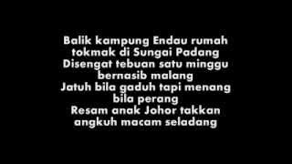 Sufian Suhaimi - Mersing Most Wanted (Lyric Video)