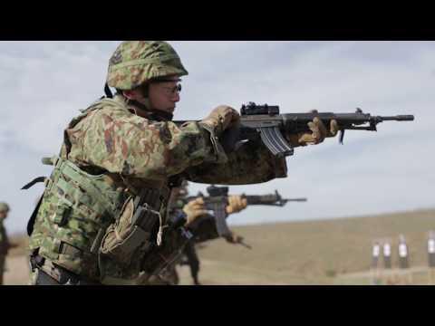 Japanese Forces Conduct USMC Marksmanship Training With HOWA TYPE 89 & SIG P220