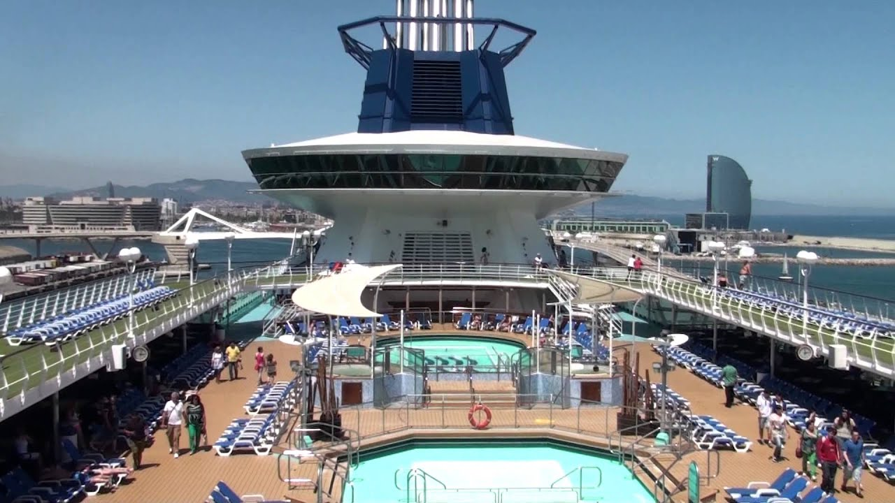 Amazing Top Deck From The Cruise Sovereign Ship In Barcelona YouTube - Ms sovereign cruise ship