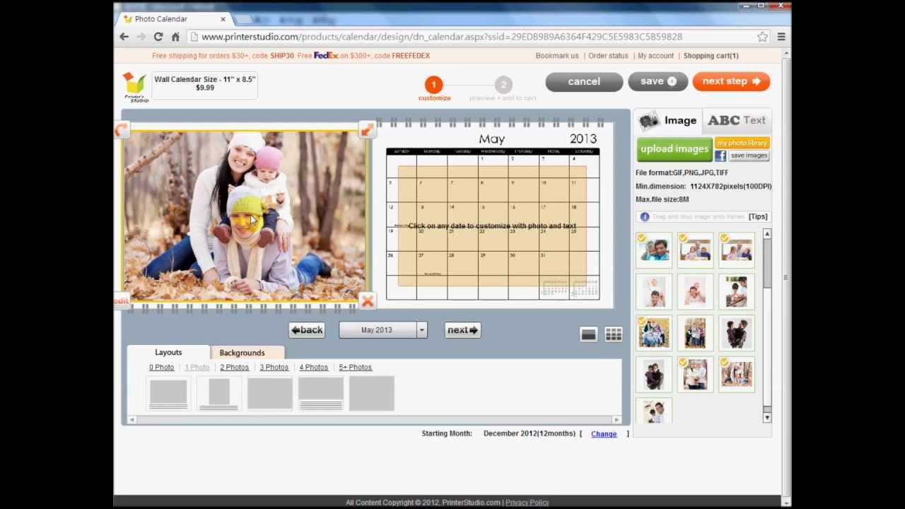 Design Your Calendar : Design your own wall calendar for home or office youtube
