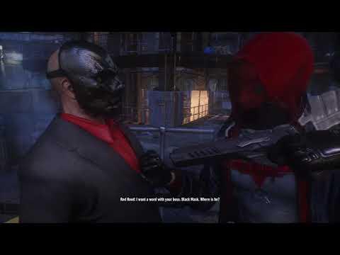 Batman™  Arkham Knight red hood story dlc black mask ending |