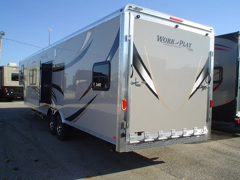 2014 work play 18ec toy hauler for sale forest river rv for Wright motors evansville in