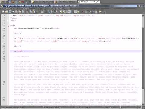 Hyperlinks - Website Navigation - 18
