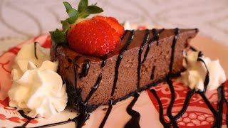 how to make easy homemade chocolate cheesecake no fuss recipe