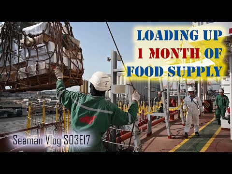 Our Ship Stocks up on Food Provisions for the Next Voyage | Seaman Vlog