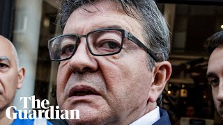 French leftwinger Jean-Luc Mélenchon reacts angrily to police raids