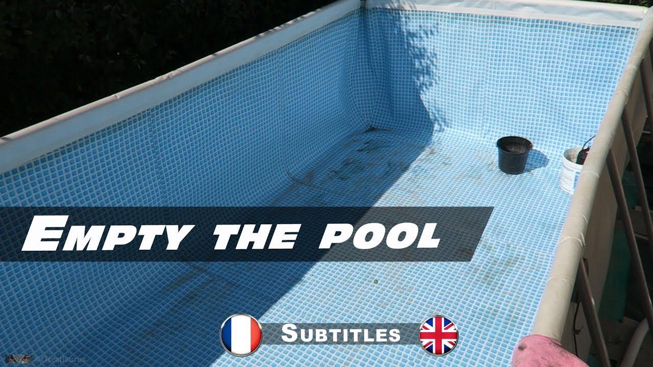 Vidange de ma piscine intex ultra frame youtube for Vidange piscine intex