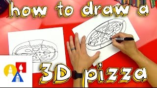 How To Draw A 3D Pizza