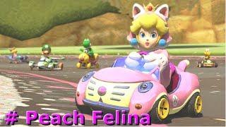 Mario Kart 8:  Carreras Mundiales # Peach Felina