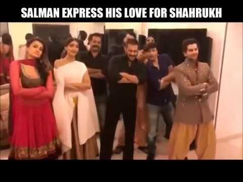 Salman Khan And Shah Rukh Khan Dance On Each Others Songs. #PremRatanDhanPayo