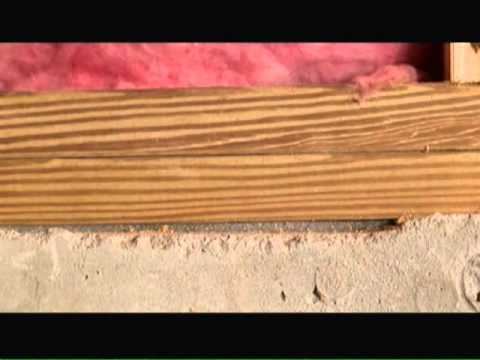 Foam Padding Roll >> Foundation Sill Plates Video - YouTube