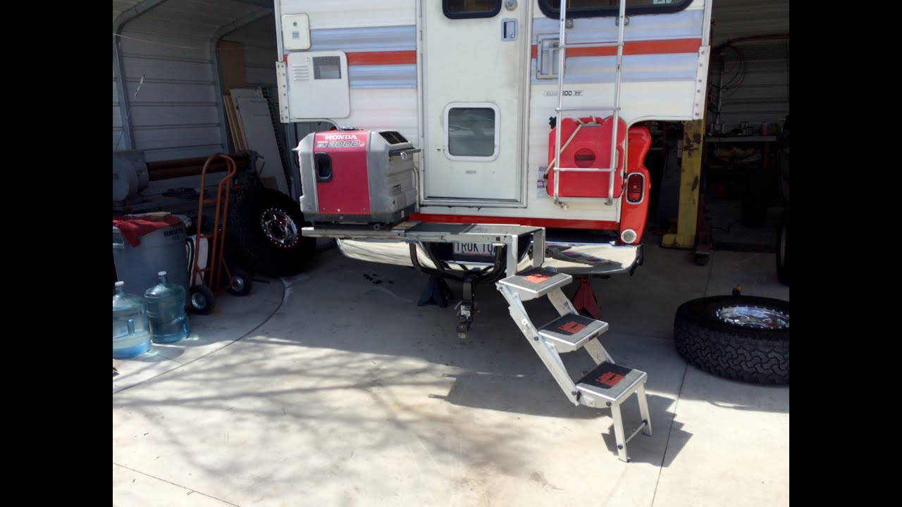 Hitch Mounted Camper Step And Generator Mount Youtube