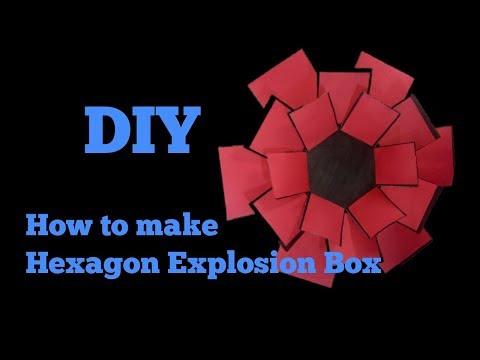 Hexagon Explosion Box Tutorial by CraftByVanky