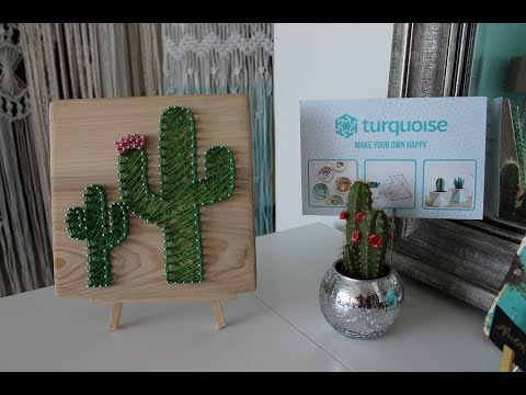 DIY Cactus String Art Tutorial