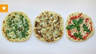 Мини пицца за пять минут от Мармеладной Лисицы. Лепешки на сковороде - три варианта начинки