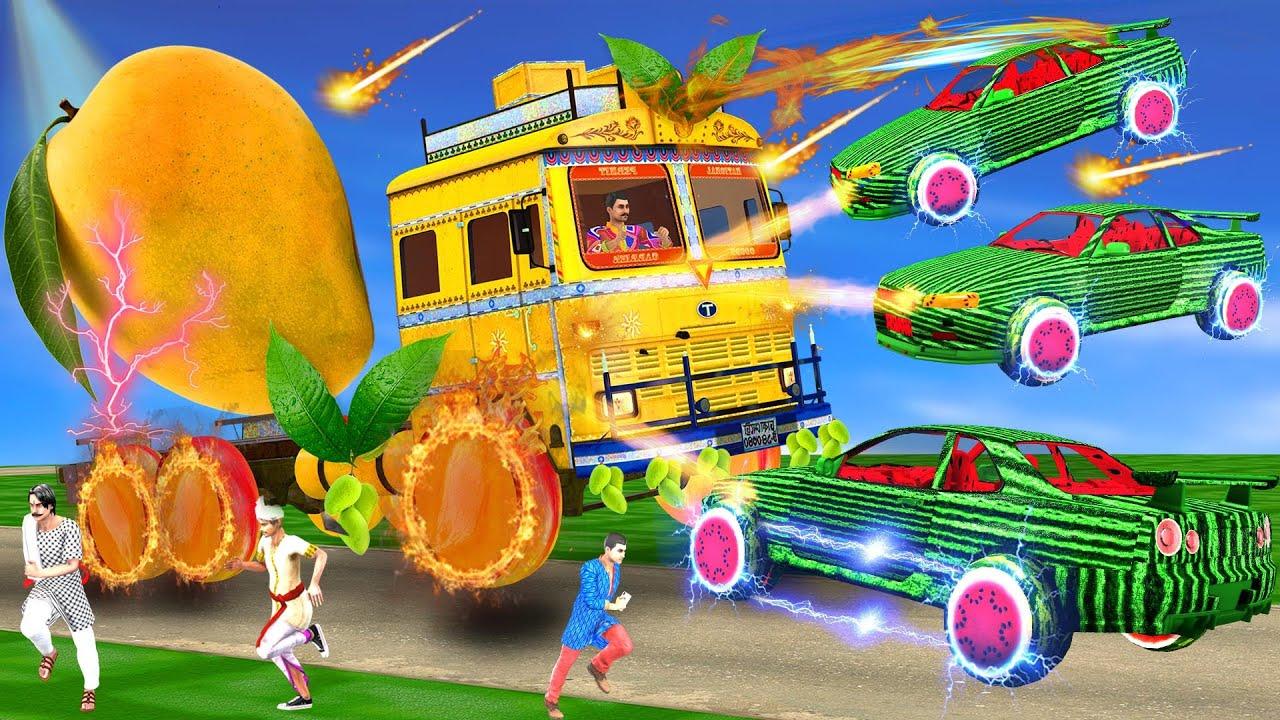 विशाल आम ट्रक तरबूज सुपर कार  हिंदी कहानियां Giant Mango Truck Watermelon Super Car Hindi Kahaniya