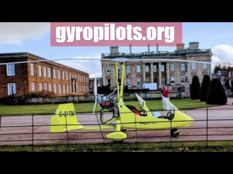 landing in a gyrocopter/gyroplane on the golf course at Heythrop Park resort