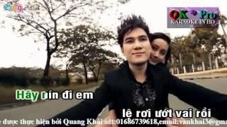 Karaoke Anh Không Níu Kéo