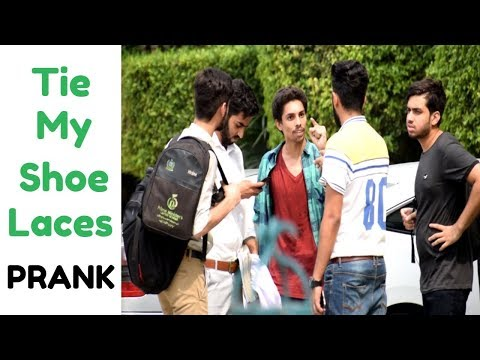 Tie My Shoe Laces Prank By Haris Awan
