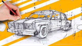 Как рисовать автомобили? ep.#1