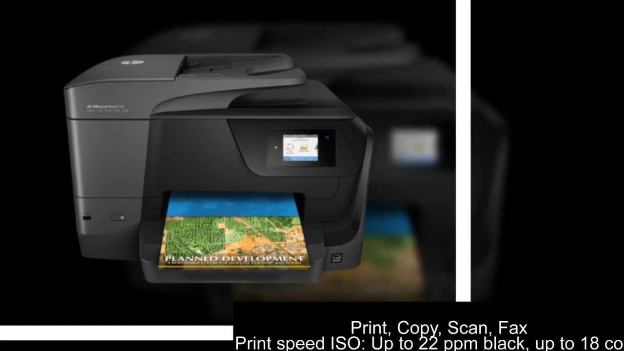 hp officejet pro 8710 all in one printer youtube. Black Bedroom Furniture Sets. Home Design Ideas