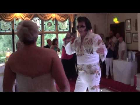 ELVIN PRIESTLEY APPEARING AT THE WEDDING RECEPTION OF MR & MRS HUGHES