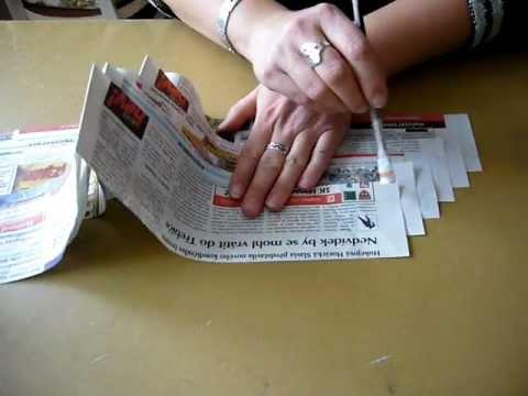 Motání ruliček z novinového papíru pomocí akuvrtačky - YouTube a3cef9875f7