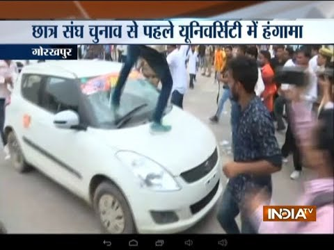 Clash broke out between 2 groups at Gorakhpur University, 1 person detained