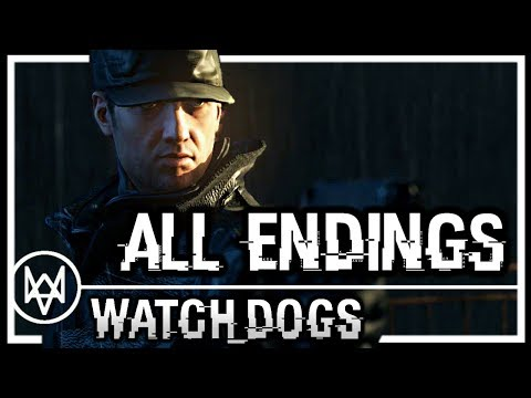 WATCH DOGS - ALL ENDINGS [HD] PS4 1080p (Ending Credits, After Credits Scene)