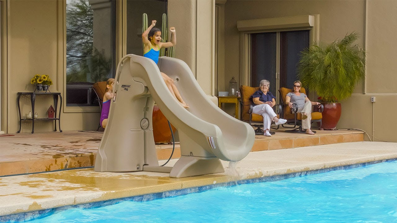 Slideaway The Safe Removable Pool Slide From S R Smith Youtube