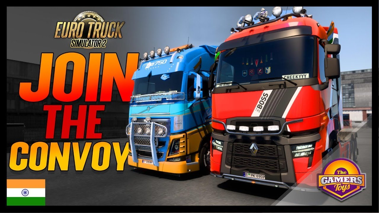 🔴FLEX YOUR TRUCK IN ETS2 MULTIPLAYER CONVOY EVENT | Euro Truck Simulator 2 With Pro Driving Setup⚡