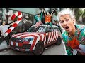Candy Cane Car for Christmas! (Public Reaction)