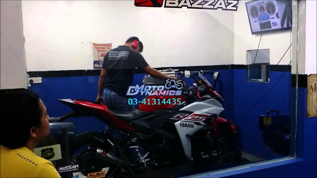Yamaha Yzf R25 Bazzaz Tuning Akrapovic Exhaust Motodynamics Prospeed Mf Series New Vixion150 Full Technology Malaysia