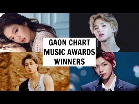 Gaon Chart Music Awards 2019 Winners Youtube