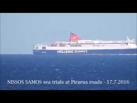NISSOS SAMOS sea trials at Piraeus roads