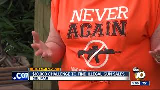$10,000 challenge to find illegal gun sales at San Diego gun show