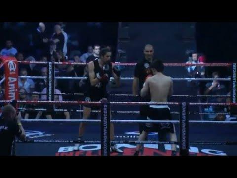 Hanwe vs Ismael ilgun  || boxing influencer hele westrijd + winnaar
